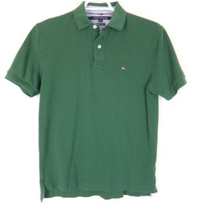 Tommy Hilfiger green polo shirt, size M